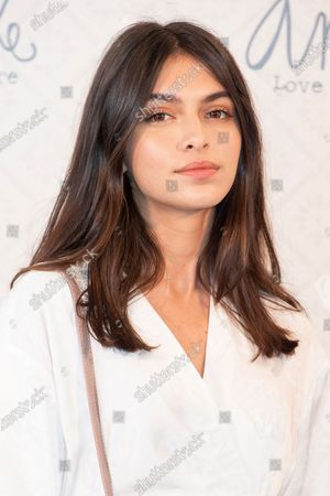 Spanish model Lucia Rivera promotes the bag brand 'Anekke'