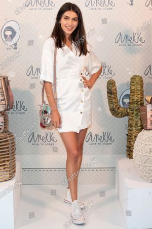 Stock Picture of Spanish model Lucia Rivera promotes the bag brand 'Anekke'