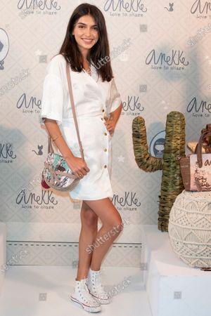 Stock Photo of Spanish model Lucia Rivera promotes the bag brand 'Anekke'
