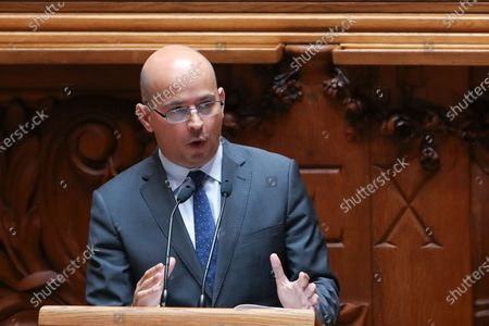 Portuguese new Minister of State and Finance Joao Leao, speaks during the debate and vote on the proposal of the supplementary budget for 2020, in the Assembly of the Republic, in Lisbon, Portugal, 17 June 2020. This is the first remodelling of the XXII Government, and was triggered by the departure of Mario Centeno from the position of Minister of State and Finance, at his request.