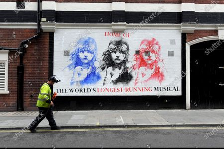 The Sondheim Theatre, home of Les Miserables, one of several shows not to reopen until 2021.  Cameron Mackintosh has delayed the reopening of many of his shows because of uncertainty over safety and the withdrawal of social distancing measures.