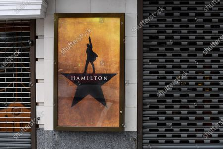 The Victoria Palace theatre, home of Hamilton, one of several shows not to reopen until 2021.  Cameron Mackintosh has delayed the reopening of many of his shows because of uncertainty over safety and the withdrawal of social distancing measures.