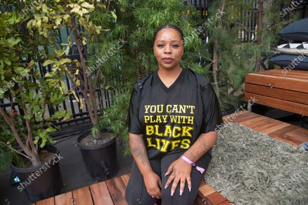 """Patrisse Cullors poses for a photo on day three of Summit LA18 in Los Angeles. """"I'm really proud of the work we've been able to do in the last seven years,"""" Cullors, co-founder and chairwoman of the Black Lives Matter Global Network Foundation, said in a statement. """"What is clear is that Black Lives Matter shares a name with a much larger movement and there are literally hundreds of organizations that do impactful racial and gender justice work who make up the fabric of this broader movement"""