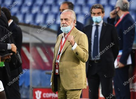 Napoli's president Aurelio De Laurentiis before the Italian Cup final soccer match between SSC Napoli and Juventus FC at the Olimpico stadium in Rome, Italy, 17 June 2020.