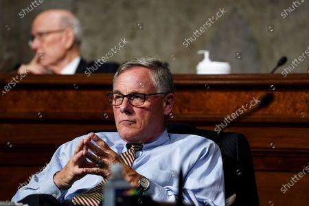 United States Senator Richard Burr (Republican of North Carolina) listens at a US Senate Finance Committee hearing on US President Donald J. Trump's 2020 Trade Policy Agenda, at Capitol Hill in Washington DC.