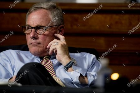 United States Senator Richard Burr (Republican of North Carolina) appears at a US Senate Finance Committee hearing as US Trade Representative Robert Lighthizer testifies on US trade on Capitol Hill,, in Washington.