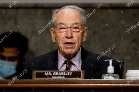 United States Senator Chuck Grassley (Republican of Iowa), Chairman, US Senate Committee on Finance speaks as US Trade Representative Robert Lighthizer appears at a US Senate Finance Committee hearing on U.S. trade on Capitol Hill,, in Washington.
