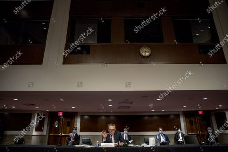Ambassador Robert Lighthizer, United States Trade Representative speaks at a US Senate Finance Committee hearing on U.S. trade on Capitol Hill,, in Washington.