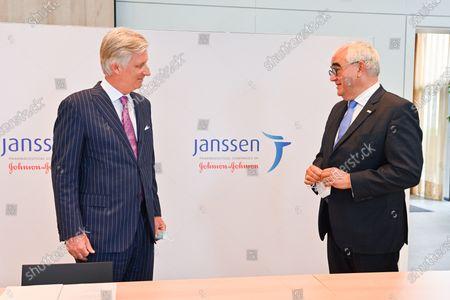 Editorial photo of King Philippe visit to Janssen Pharmaceutica, Beerse, Belgium - 17 Jun 2020