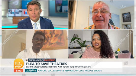 Stock Photo of Ben Shephard, Kwame Kwei-Armah, Christopher Biggins, Guest