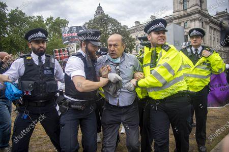 Editorial photo of Boris Johnson car crash protest, London, UK - 18 Jun 2020