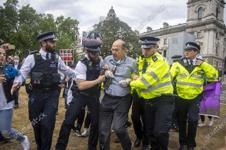Editorial image of Boris Johnson car crash protest, London, UK - 18 Jun 2020