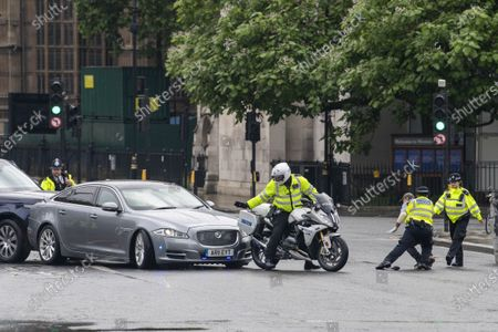 Editorial picture of Boris Johnson car crash protest, London, UK - 18 Jun 2020