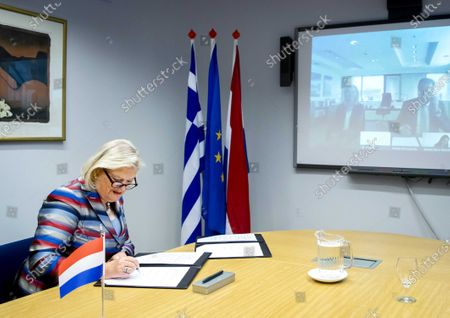 Editorial photo of Netherlands and Greece sign a refugee agreement via video, The Hague - 18 Jun 2020