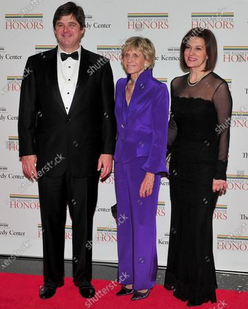William Kennedy Smith, Jean Kennedy Smith and Victoria Reggie Kennedy arrive for the formal Artist's Dinner at the United States Department of State in Washington, D.C..