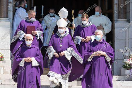 Editorial image of Elisabeth-Anne de Massy funeral ceremony, Monaco - 17 Jun 2020