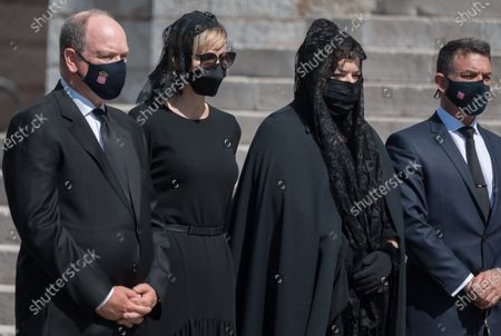Prince Albert II of Monaco, Princess Charlene of Monaco, Melanie Antoinette de Massy, Jean Leonard Taubert de Massy,