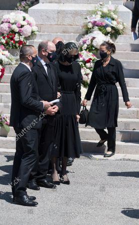 Princess Stephanie of Monaco, Prince Albert II of Monaco, Princess Charlene of Monaco, Melanie Antoinette de Massy,