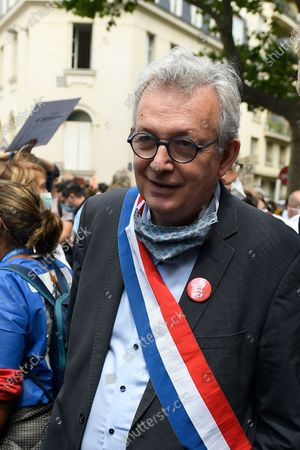 Pierre Laurent (french communist party) during a protesting of nursing staff on tuesday june 16, 2020. Paris. France.