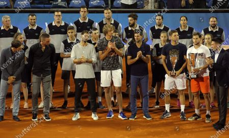 Dusan Lajovic Viktor Troicki Alexander Zverev, Grigor Dimitrov Novak Djokovic Filip Krajinovic i Dominic Thiem