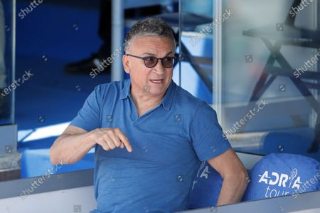 Stock Picture of Srdjan Djokovic Adria Tour tennis tournament in Belgrade, Serbia 13 Jun 2020. 13.6.2020.