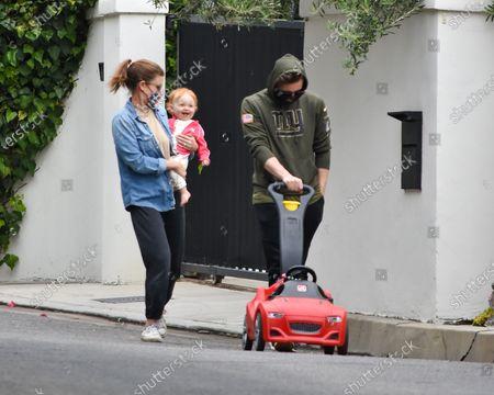 Kate Mara, Jamie Bell and daughter