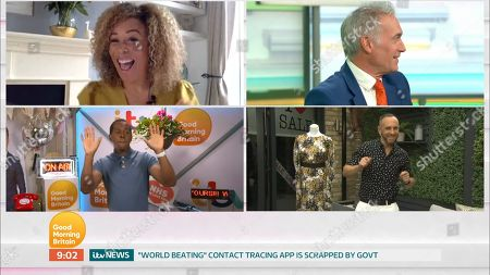 Editorial image of 'Good Morning Britain' TV Show, London, UK - 19 Jun 2020
