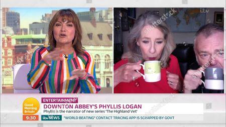 Lorraine Kelly, Phyllis Logan and Kevin McNally