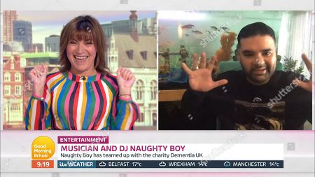 Lorraine Kelly and Naughty Boy