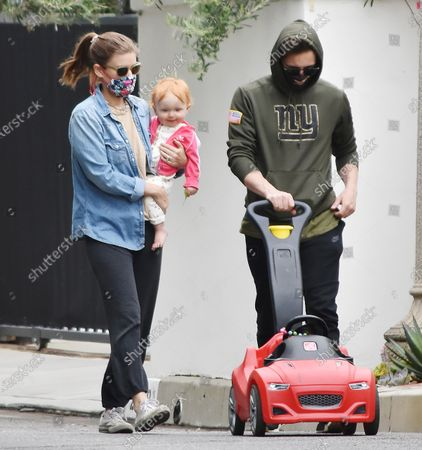 Stock Picture of Kate Mara, Jamie Bell and daughter