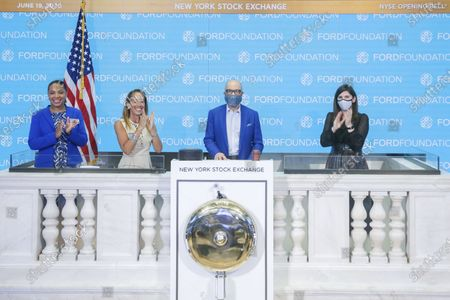 Editorial image of Ford Foundation Rings The Opening Bell, New York, United States - 19 Jun 2020