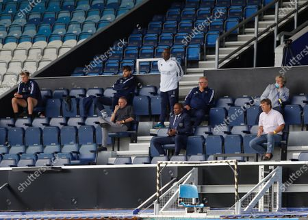 The Kiyan Prince Foundation Stadium, London, England; Queens Park Rangers Director of Football Les Ferdinand and Technical Director watching from the stands; English Championship Football, Queen Park Rangers versus Barnsley Football Club.