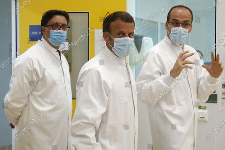 Editorial photo of President Emmanuel Macron visits the Sanofi Pasteur vaccine plant, Marcy-l'Étoile, France - 16 Jun 2020