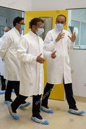 Editorial picture of President Emmanuel Macron visits the Sanofi Pasteur vaccine plant, Marcy-l'Étoile, France - 16 Jun 2020