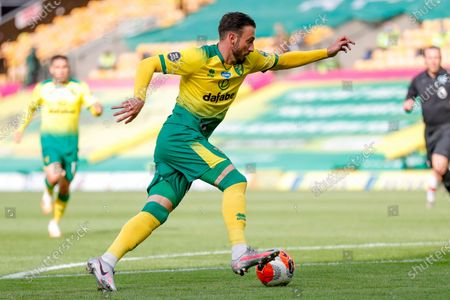 Norwich City forward Josip Drmic (20)  in action  during the Premier League match between Norwich City and Southampton at Carrow Road, Norwich