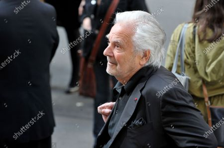 Pierre Arditi at the funeral of Maurice Marechal at the Saint-Roch Church