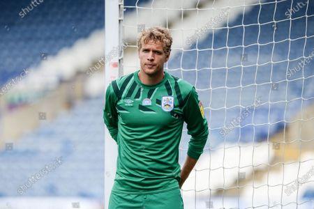 Goalkeeper Jonas Lossl (49) of Huddersfield Town