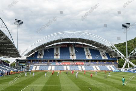 John Smith stadium general view, match behind closed doors between Huddersfield Town and Wigan Athletic.