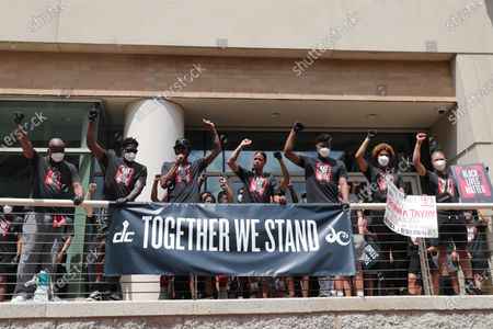 Editorial image of NBA Wizards and WNBA Mystics players march to support Black Lives Matter, Washington DC, USA - 19 Jun 2020