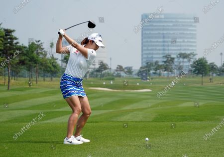 KIM Ji-hyun of South Korea at hole #1 during the third round of KIA Motors Korea Women's Open Golf Championship at the Bear's Best CheongNa Golf Club in Incheon, South Korea on June 20, 2020.  South Korea reported 12,306 accumulated new coronavirus cases on June 19.