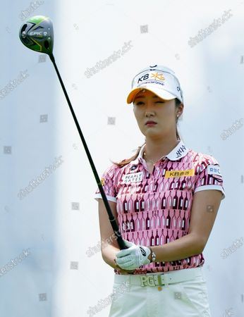 Stock Picture of OH Ji-hyun of South Korea at the hole#1 during the third round of KIA Motors Korea Women's Open Golf Championship at the Bear's Best CheongNa Golf Club in Incheon, South Korea on June 20, 2020.  South Korea reported 12,306 accumulated new coronavirus cases on June 19.