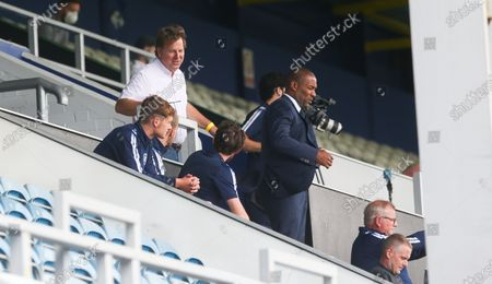 Les Ferdinand & Lee Hoos (CEO) (L) watch from the stand