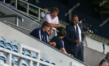 Lee Hoos (QPR CEO - Left) & Les Ferdinand in the stand