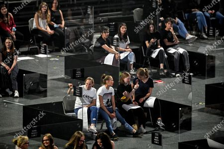 Editorial picture of First music concert with acrylic glass booths, Cologne, Germany - 20 Jun 2020