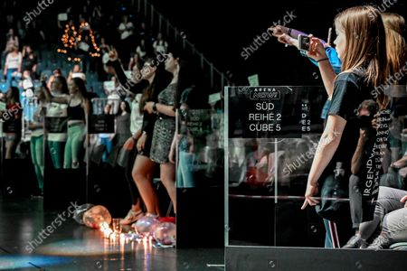 Editorial image of First music concert with acrylic glass booths, Cologne, Germany - 20 Jun 2020