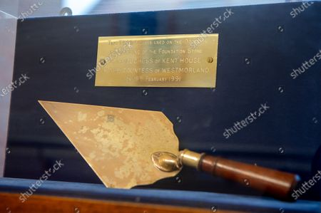 The trowel used to lay the foundation stone for the building of The Sue Ryder Duchess of Kent Hospice in Reading, Berkshire. The Hospice has been rated Outstanding by the Care Quality Commission. They have 15 in patient beds and are based near to the Royal Berkshire Hopsital in Reading