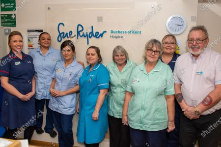 Staff at the The Sue Ryder Duchess of Kent Hospice in Reading, Berkshire which has been rated Outstanding by the Care Quality Commission. They have 15 in patient beds and are based near to the Royal Berkshire Hopsital in Reading
