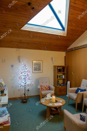 A prayer tree at The Sue Ryder Duchess of Kent Hospice in Reading, Berkshire. The Hospice has been rated Outstanding by the Care Quality Commission. They have 15 in patient beds and are based near to the Royal Berkshire Hopsital in Reading