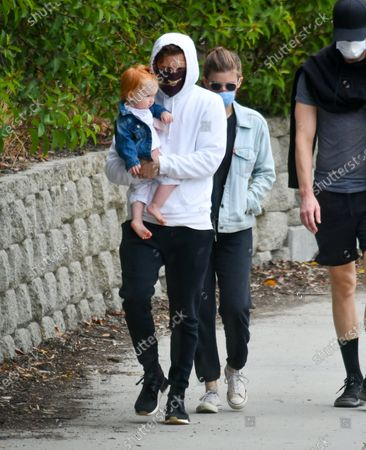 Editorial photo of Jamie Bell and Kate Mara out and about, Los Angeles, USA - 20 Jun 2020