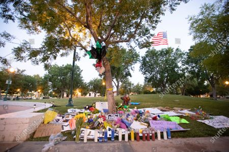 A memorial site surrounds the tree where Robert Fuller's Body was found